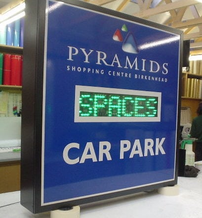 Car Park Spaces sign